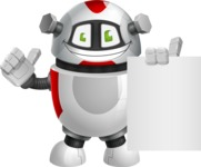 Smart Robot Cartoon Vector Character AKA Chubbydroid 3000 - Sign 3