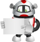 Smart Robot Cartoon Vector Character AKA Chubbydroid 3000 - Sign 4