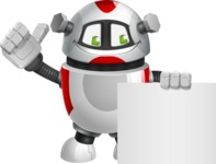 Smart Robot Cartoon Vector Character AKA Chubbydroid 3000 - Sign 6