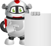 Smart Robot Cartoon Vector Character AKA Chubbydroid 3000 - Sign 7
