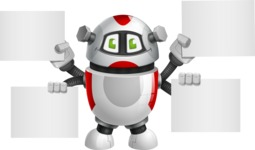 Smart Robot Cartoon Vector Character AKA Chubbydroid 3000 - Sign 8