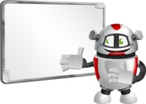 Smart Robot Cartoon Vector Character AKA Chubbydroid 3000 - Presentation 1