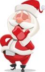 Small Santa Vector Cartoon Character - Being Bored