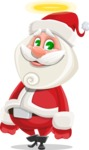Small Santa Vector Cartoon Character - Being Good with a Halo