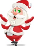 Small Santa Vector Cartoon Character - Feeling Shocked