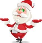 Small Santa Vector Cartoon Character - Feeling Sorry