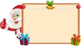 Small Santa Vector Cartoon Character - Making a Christmas Presentation Template