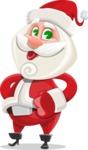 Small Santa Vector Cartoon Character - Making a Funny Face