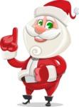 Small Santa Vector Cartoon Character - Making a Point