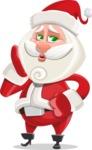 Small Santa Vector Cartoon Character - Making a Selfie