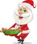 Small Santa Vector Cartoon Character - Making Cookies for Christmas