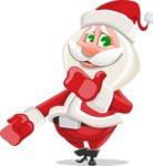 Small Santa Vector Cartoon Character - Making Oops Gesture