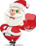 Small Santa Vector Cartoon Character - Making Stop Sign