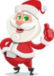 Small Santa Vector Cartoon Character - Making Thumbs Up