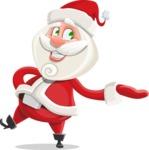 Small Santa Vector Cartoon Character - Presenting