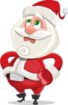 Small Santa Vector Cartoon Character - Rolling Eyes