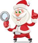 Small Santa Vector Cartoon Character - Searching