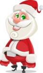 Small Santa Vector Cartoon Character - Smiling
