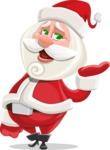 Small Santa Vector Cartoon Character - Tired and Yawning