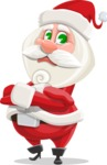 Small Santa Vector Cartoon Character - Waiting with Crossed Hands