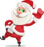 Small Santa Vector Cartoon Character - Waving