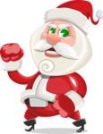 Small Santa Vector Cartoon Character - With Angry Face
