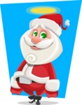 Small Santa Vector Cartoon Character - With Obident Child Illustration