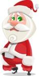 Small Santa Vector Cartoon Character - With Sad Face