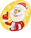 Small Santa Vector Cartoon Character - With Snow Illustration Concept