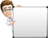 Physician Cartoon Vector Character AKA Dr 'Handsome' Steven - Presentation 5