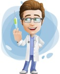 Physician Cartoon Vector Character AKA Dr 'Handsome' Steven - Shape 8