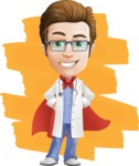 Physician Cartoon Vector Character AKA Dr 'Handsome' Steven - Shape 12