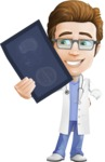 Physician Cartoon Vector Character AKA Dr 'Handsome' Steven - Radiography 3