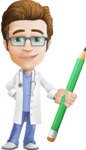 Physician Cartoon Vector Character AKA Dr 'Handsome' Steven - Pencil