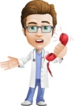 Physician Cartoon Vector Character AKA Dr 'Handsome' Steven - Emergency Call 2