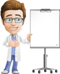 Physician Cartoon Vector Character AKA Dr 'Handsome' Steven - Presentation 2