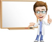 Physician Cartoon Vector Character AKA Dr 'Handsome' Steven - Presentation 3