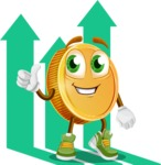 Cartoon Coin Vector Character - Income Illustration Profit Concept