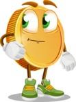 Cartoon Coin Vector Character - Waiting