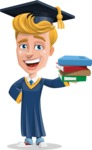 Graduate Student Cartoon Vector Character AKA Greg the Graduate Boy - Book 2