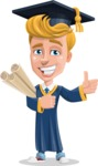 Graduate Student Cartoon Vector Character AKA Greg the Graduate Boy - Plans