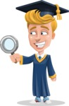 Graduate Student Cartoon Vector Character AKA Greg the Graduate Boy - Search