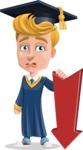 Graduate Student Cartoon Vector Character AKA Greg the Graduate Boy - Pointer 3