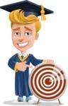 Graduate Student Cartoon Vector Character AKA Greg the Graduate Boy - Target
