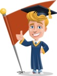 Graduate Student Cartoon Vector Character AKA Greg the Graduate Boy - Chackpoint