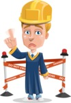 Graduate Student Cartoon Vector Character AKA Greg the Graduate Boy - Under Conastruction