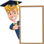 Graduate Student Cartoon Vector Character AKA Greg the Graduate Boy - Presentation 4