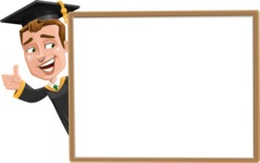 Male College Graduate Cartoon Vector Character AKA Tyler - Presentation 5