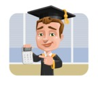 Male College Graduate Cartoon Vector Character AKA Tyler - Shape 2