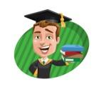 Male College Graduate Cartoon Vector Character AKA Tyler - Shape 4